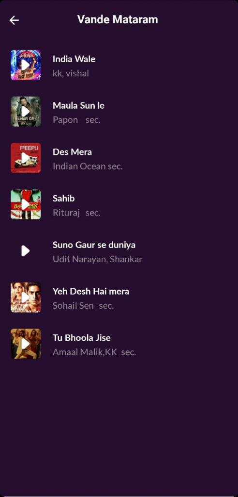 BharatKiChingari-songs